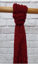 Pink Viskose Schal, rot