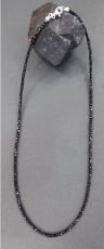 Schörl, schwarzer Turmalin 2 x 2 x 2 mm Collier