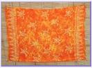 Sarong gelb-orange batik Schildkröte