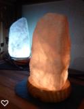 Rosenquarz Lampe