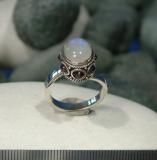 Mondstein - Granat Ring