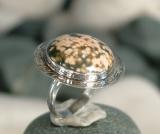 Ozean Achat Ring