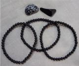 Onyx, 4 mm Armband, glanz