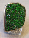 Granat Uwarowit Ring