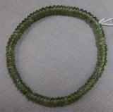 Apatit Armband grün Linsen