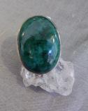 Chrysokoll Ring, oval