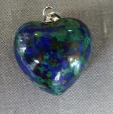 Azurit-Malachit Herz
