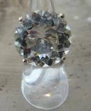 Bergkristall Ring Brilliantschliff