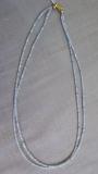 Aquamarin 2x2 mm Collier, doppelreihig