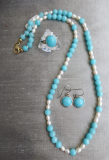 Amazonit Perlen Collier