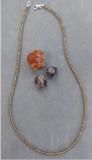 Granat-Spessartin/Pyrop Collier mit Alexandrit ähnlichem Farbwechsel