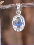 Bergkristall Silberanhänger, fac.