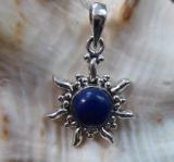 Lapis Lazuli Sonne Anhänger, klein