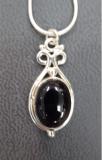 Onyx Silberanhänger