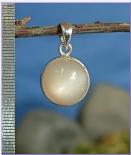 Mondstein natur, Silberanhänger