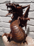 Drache, Holz Suar,  20 cm mit Flügel