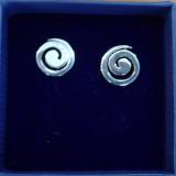 Spirale Silber Ohrstecker 9 mm
