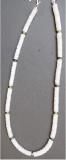 Jade, weiß 6 x 1,5 matt mit Aventurin
